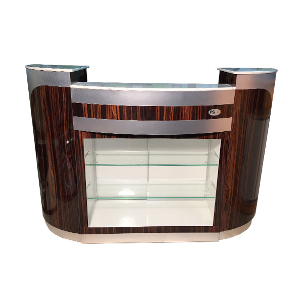 Reception Desk C-209 (Cherry / Aluminum)