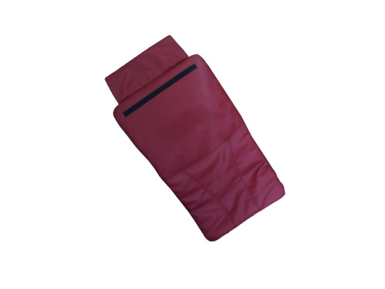 Bright Burgundy Back Cushion leather cover for Pedicure chair 111