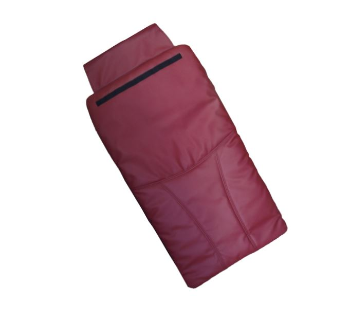 Bright Burgundy / Red - Back Cushion leather cover for Pedicure chair Chocolate cloud 9 Luxe