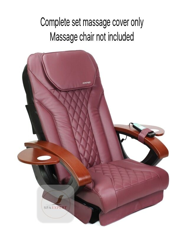 Burgundy - SHIATSULOGI Massage seat back pillow cushion upholstery cover pedicure spa chair