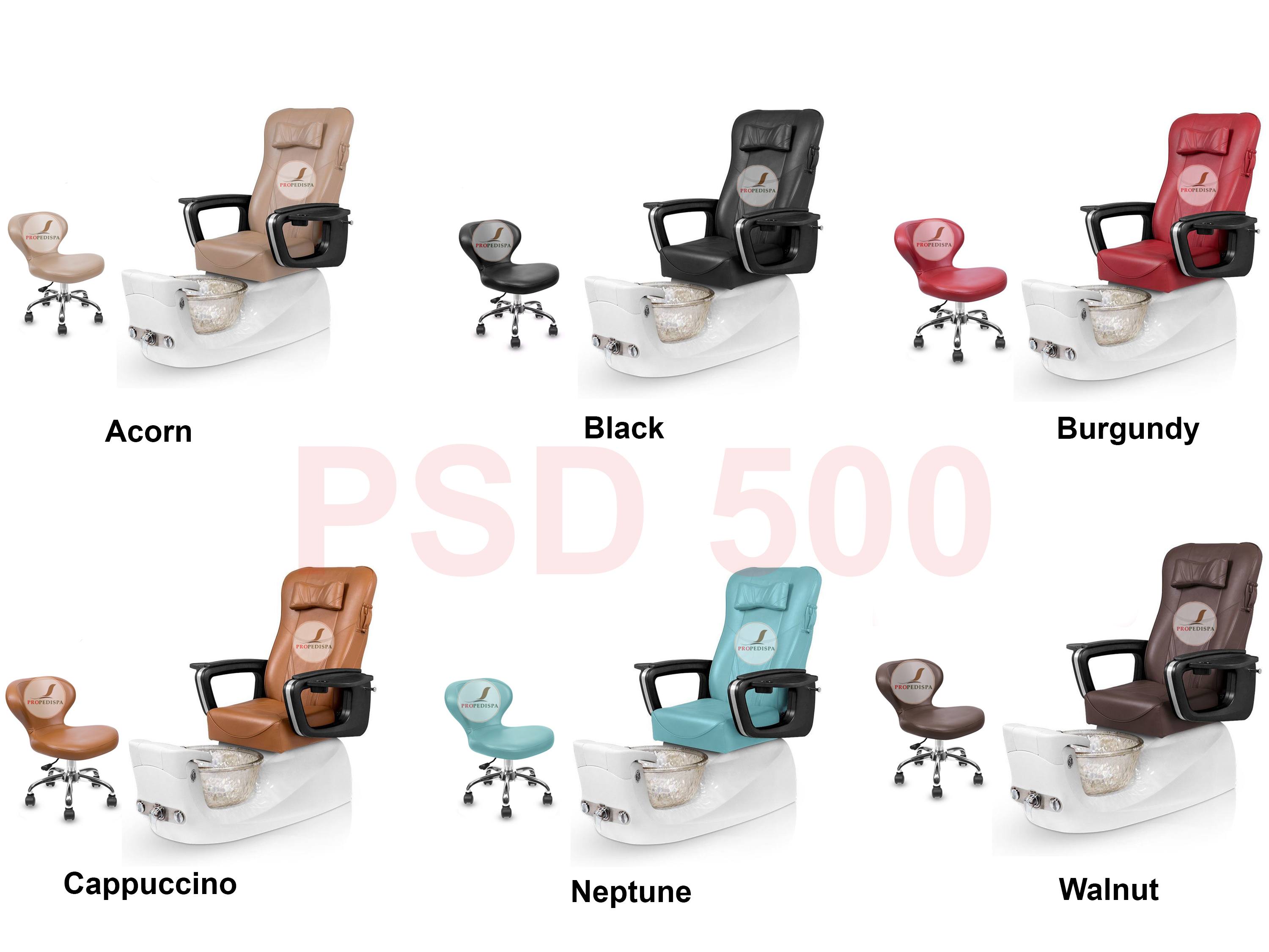 Complete PSD500 Spa Pedicure chair Eco Magnetic head Jet discharge pump + Stool
