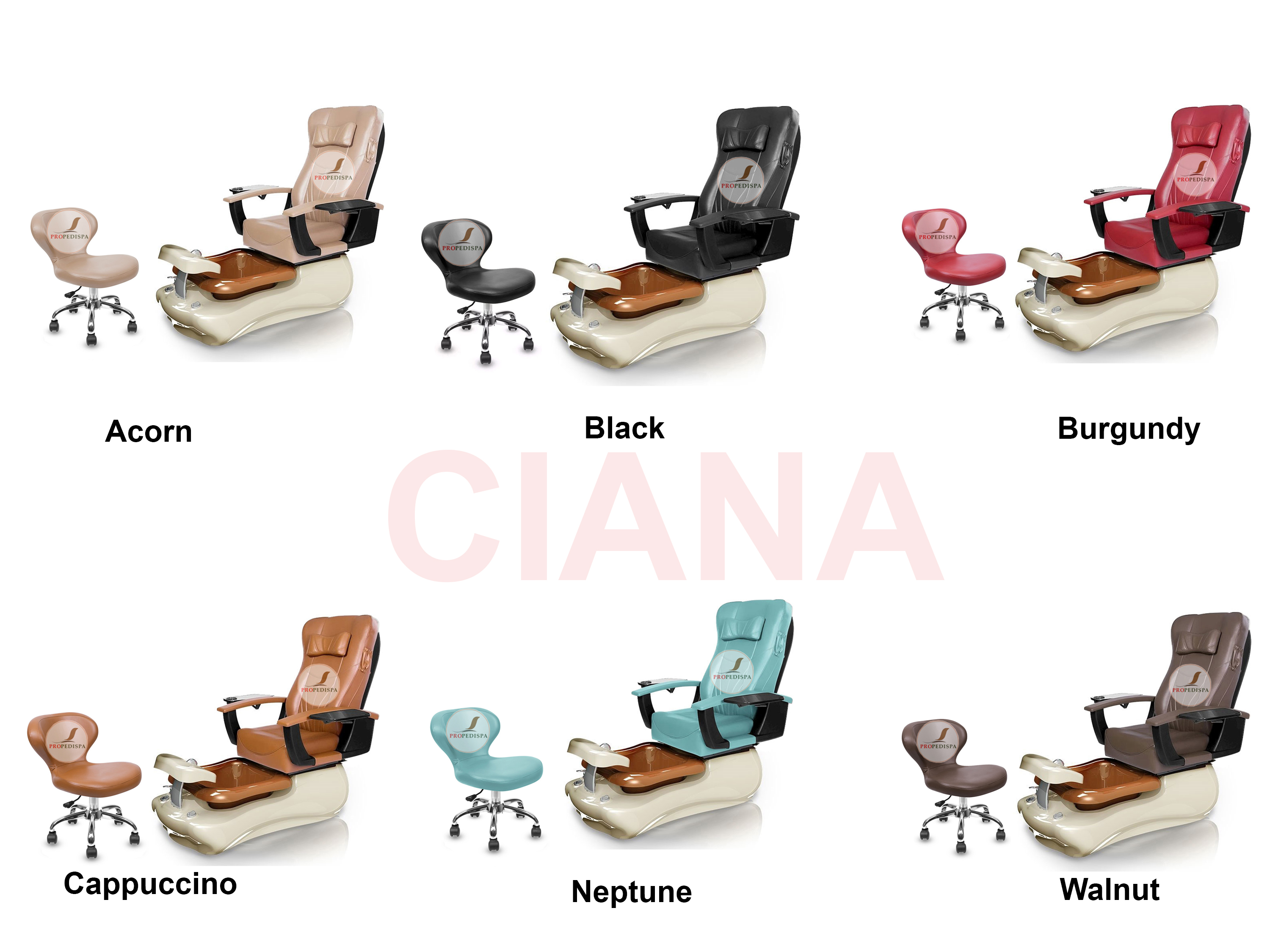 Complete CIANA Spa Pedicure chair Eco Magnetic head Jet discharge pump + Stool